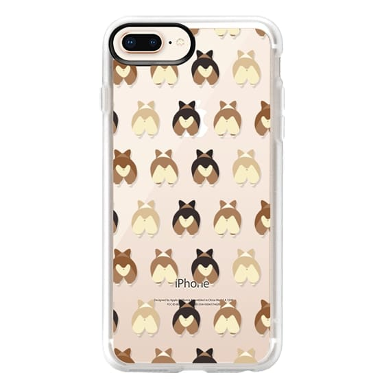 iPhone 8 Plus Cases - Corgi Butts