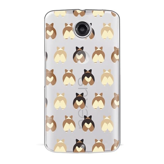 Nexus 6 Cases - Corgi Butts