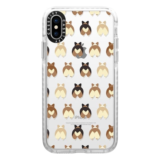 iPhone X Cases - Corgi Butts