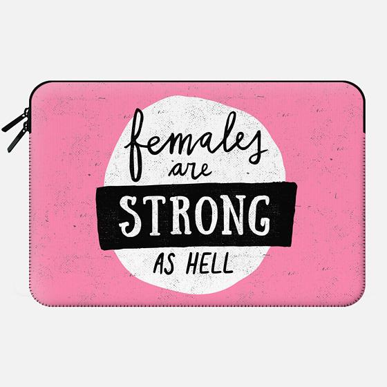 Females Are Strong | Macbook Sleeve - Macbook Sleeve