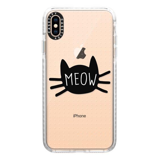 iPhone XS Max Cases - Meow | Transparent