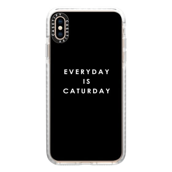 iPhone XS Max Cases - Everyday Is Caturday | Black