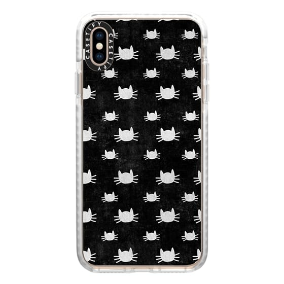 iPhone XS Max Cases - Cat Pattern | Black