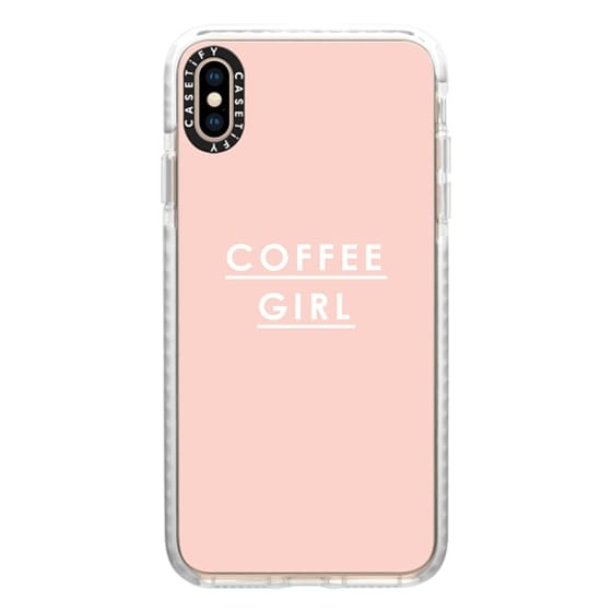 iPhone XS Max Cases - Coffee Girl | Pink