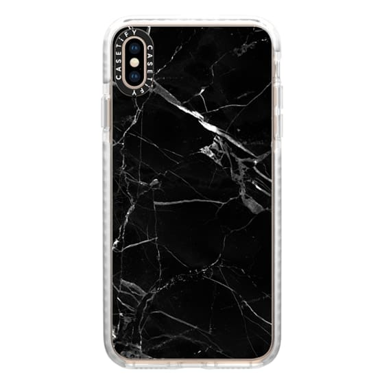 iPhone XS Max Cases - Marble Black