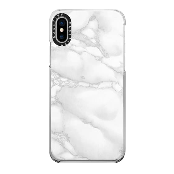 iPhone X Cases - Marble White