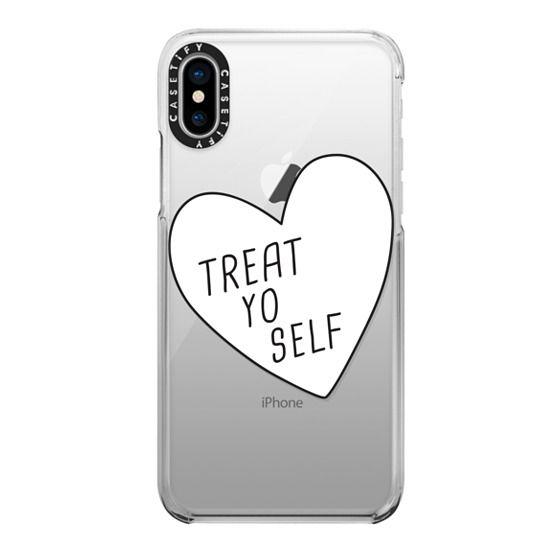 iPhone X Cases - Treat Yo Self   Transparent