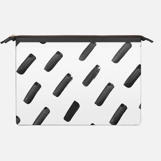 Ink Brush Pattern | Macbook - Saffiano Leather Sleeve