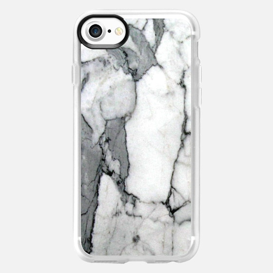 Classic Grey Marble - Graphic by D - Wallet Case