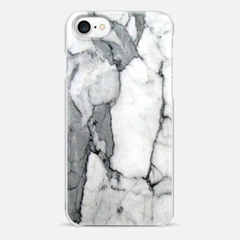 iPhone 7 ケース Classic Grey Marble - Graphic by D