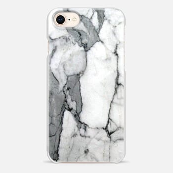 iPhone 8 ケース Classic Grey Marble - Graphic by D