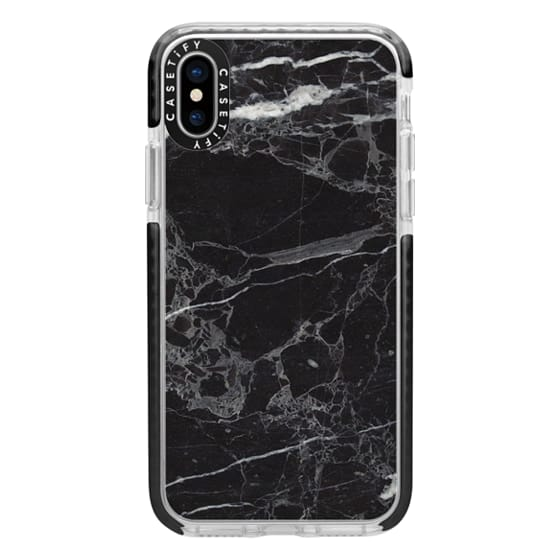 iPhone X Cases - Classic Black Marble - Graphic by D