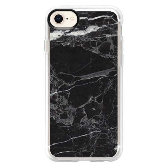 iPhone 8 Cases - Classic Black Marble - Graphic by D