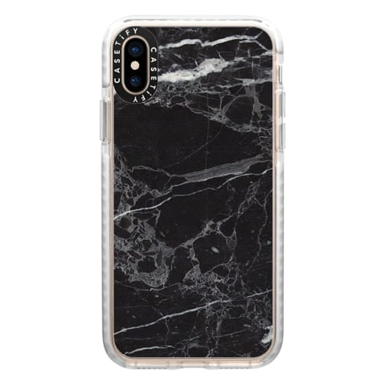 iPhone XS Cases - Classic Black Marble - Graphic by D