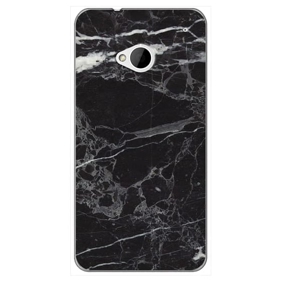 Htc One Cases - Classic Black Marble - Graphic by D