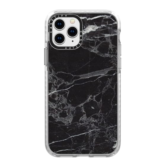 iPhone 11 Pro Cases - Classic Black Marble - Graphic by D