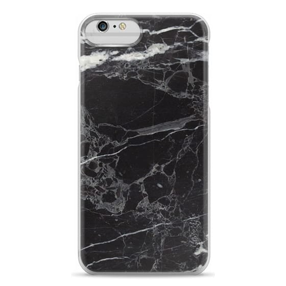 iPhone 6 Plus Cases - Classic Black Marble - Graphic by D