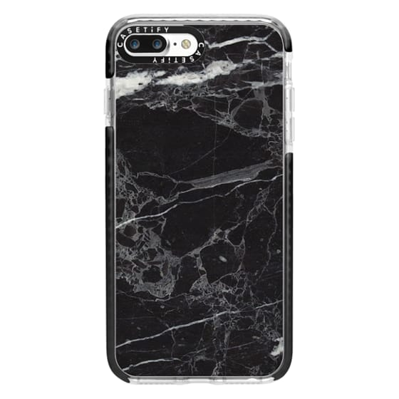 iPhone 7 Plus Cases - Classic Black Marble - Graphic by D