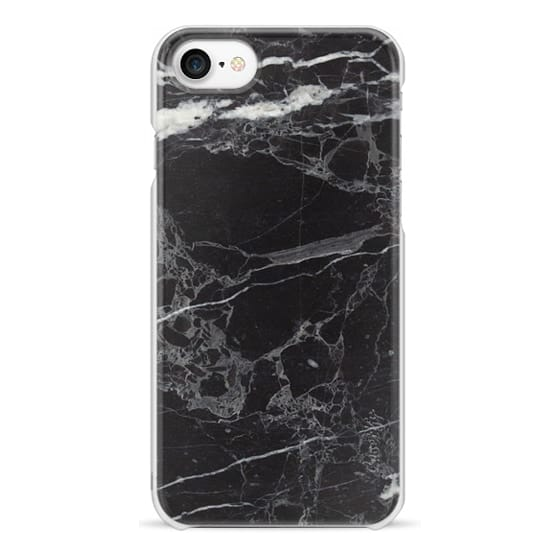 iPhone 7 Cases - Classic Black Marble - Graphic by D