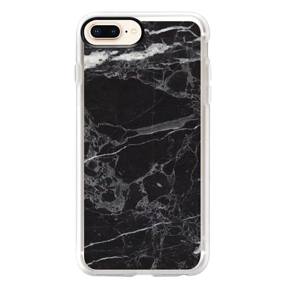 iPhone 8 Plus Cases - Classic Black Marble - Graphic by D