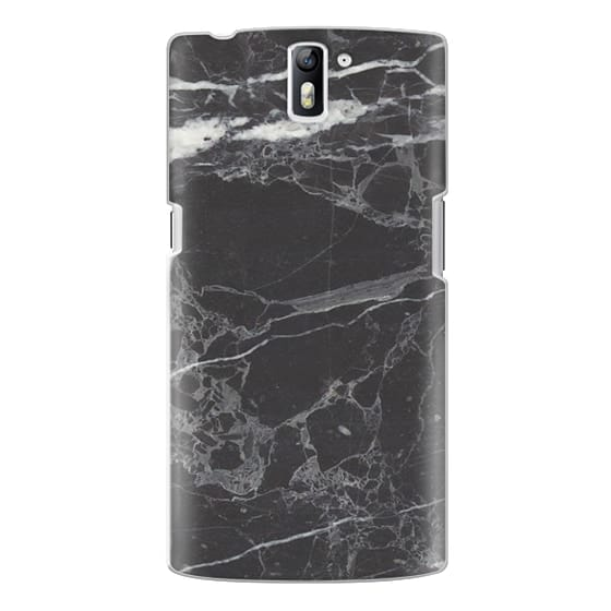 One Plus One Cases - Classic Black Marble - Graphic by D