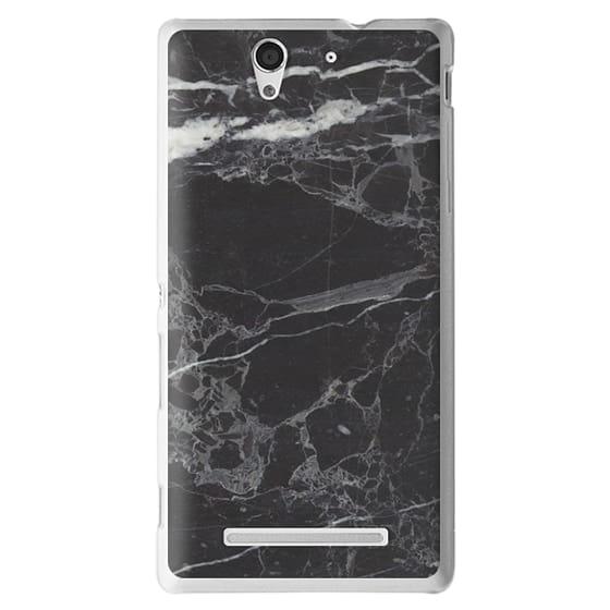 Sony C3 Cases - Classic Black Marble - Graphic by D