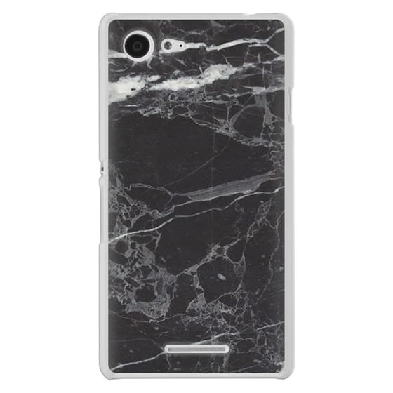 Sony E3 Cases - Classic Black Marble - Graphic by D