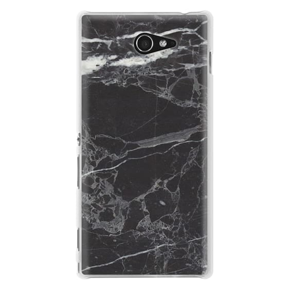 Sony M2 Cases - Classic Black Marble - Graphic by D