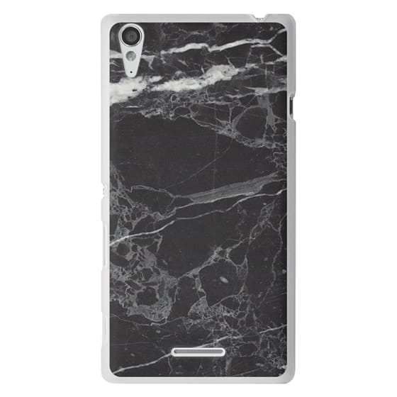 Sony T3 Cases - Classic Black Marble - Graphic by D