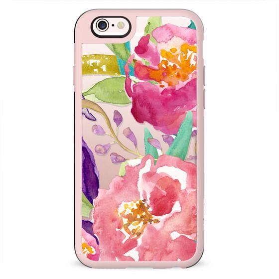 Watercolor Floral Transparent