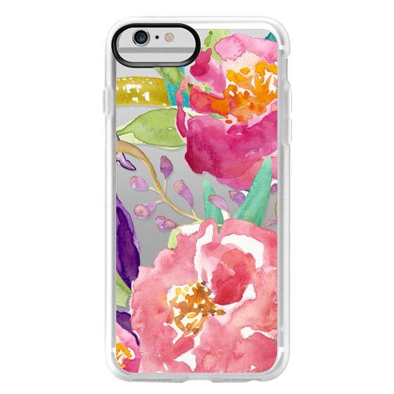 iPhone 6 Plus Cases - Watercolor Floral Transparent