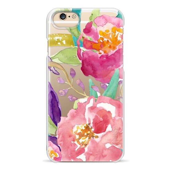 iPhone 6 Cases - Watercolor Floral Transparent