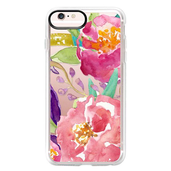 iPhone 6s Plus Cases - Watercolor Floral Transparent