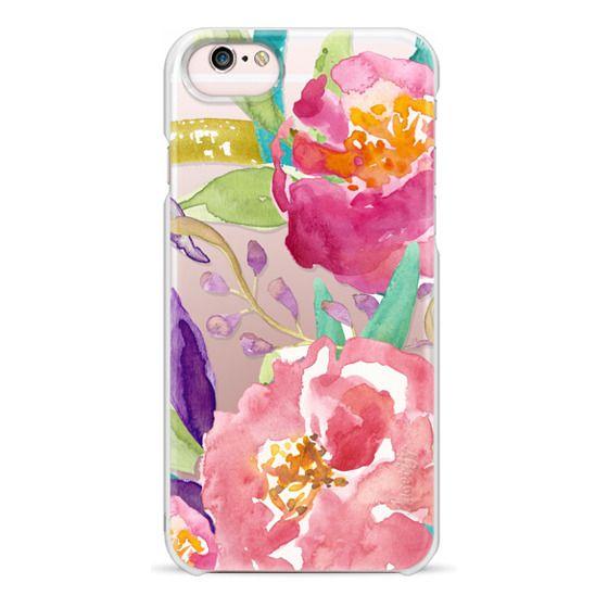 iPhone 6s Cases - Watercolor Floral Transparent