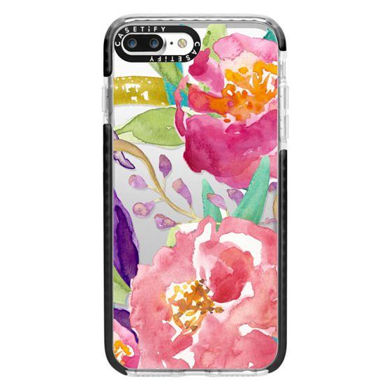 iPhone 7 Plus Cases - Watercolor Floral Transparent