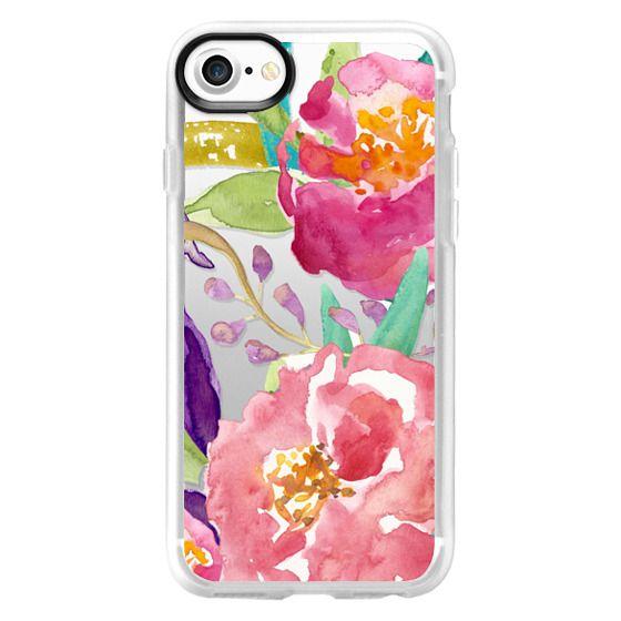 iPhone 7 Cases - Watercolor Floral Transparent