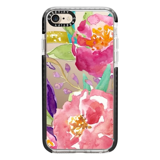 iPhone 7 Cases - Watercolor Floral Transparent