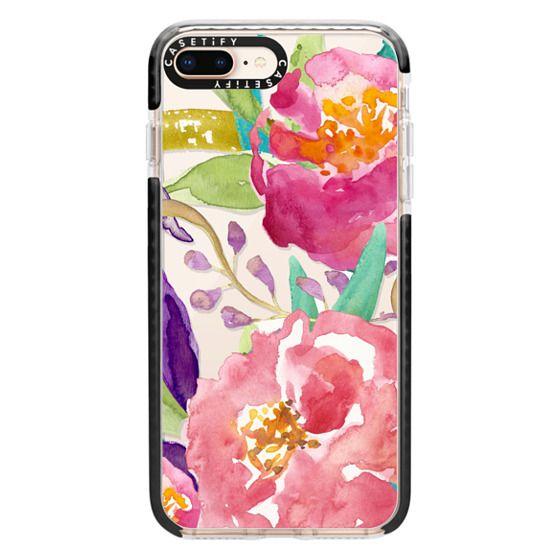 iPhone 8 Plus Cases - Watercolor Floral Transparent