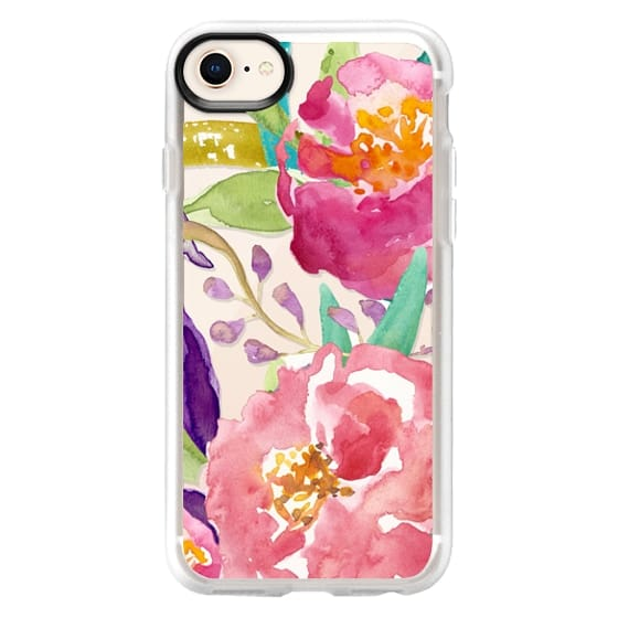 iPhone 8 Cases - Watercolor Floral Transparent