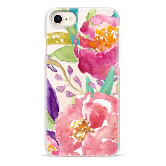 iPhone 8 Cases - Watercolor Floral Transparent