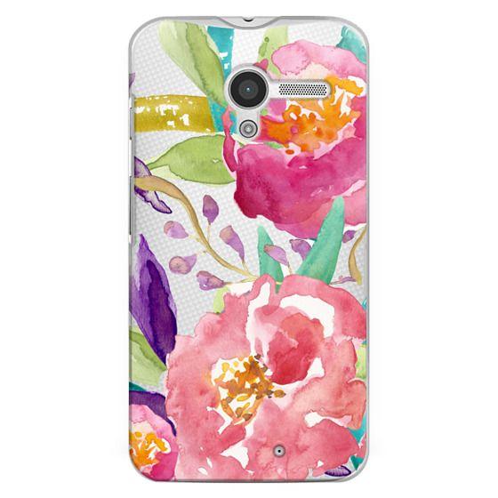 Moto X Cases - Watercolor Floral Transparent