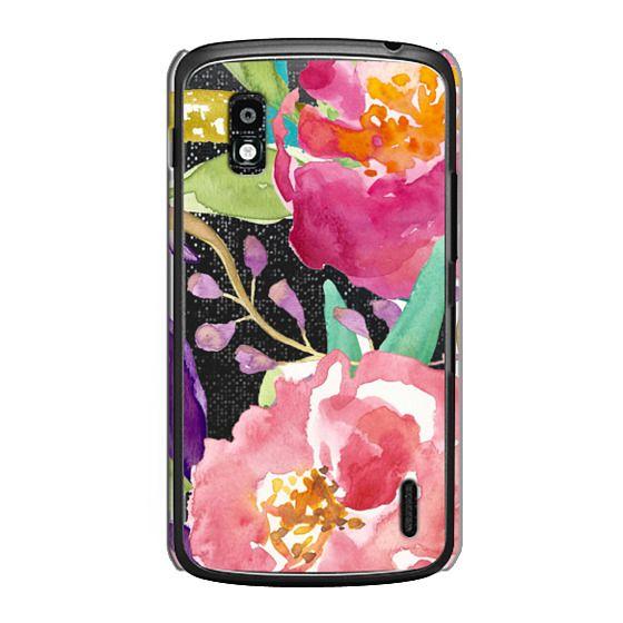 Nexus 4 Cases - Watercolor Floral Transparent
