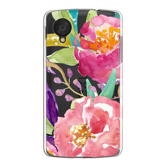 Nexus 5 Cases - Watercolor Floral Transparent