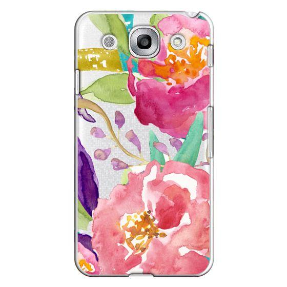 Optimus G Pro Cases - Watercolor Floral Transparent