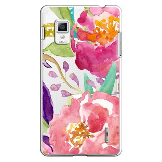 Optimus G Cases - Watercolor Floral Transparent