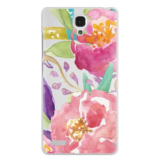 Redmi Note Cases - Watercolor Floral Transparent