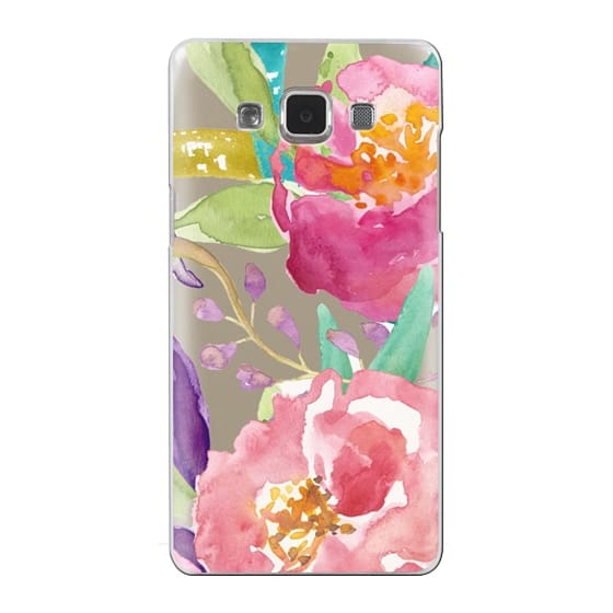 Samsung Galaxy A5 Cases - Watercolor Floral Transparent