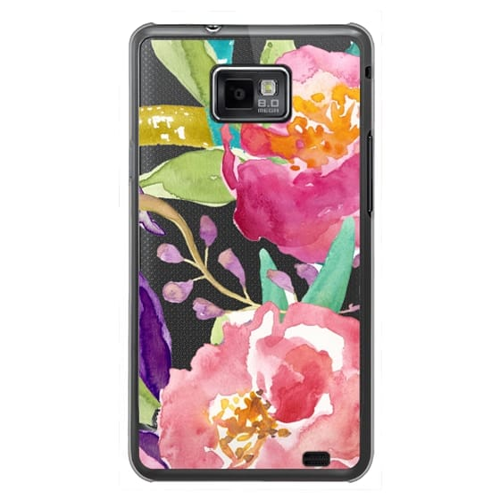 Samsung Galaxy S2 Cases - Watercolor Floral Transparent