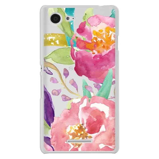 Sony E3 Cases - Watercolor Floral Transparent