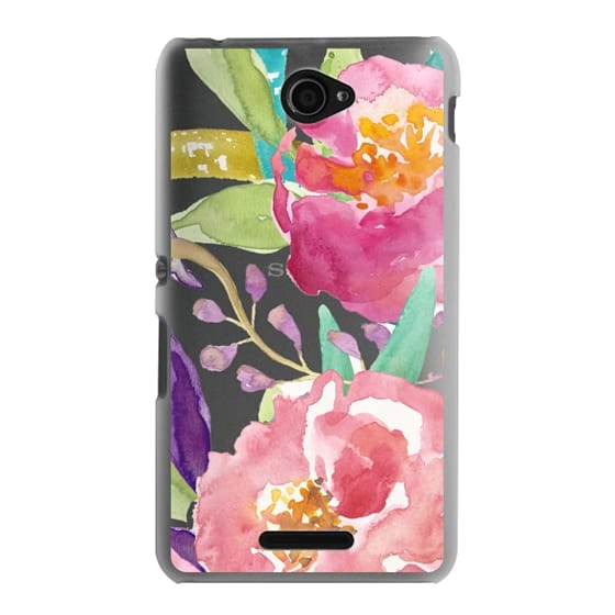 Sony E4 Cases - Watercolor Floral Transparent